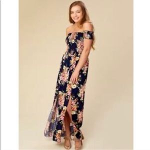 Altar'd State maxi dress off the shoulder small
